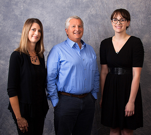 Image Description.   Union Investment Solutions team Meg Wheeler, David White, and Jennifer Bowers.